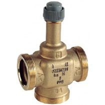 Plant Valve - 3 Port 6.5mm Stroke PN16 DN25 Kvs 4  + 3 x AC25TF Int thread fitting Valves
