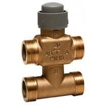 Zone Valve - 4 Port 6.5mm Stroke PN16 Flat End 15mm Kvs 0.4 Valves