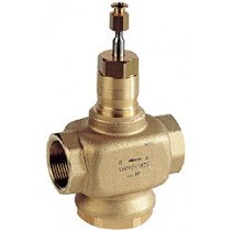 2 Port Plant Valve - 2 Port 20mm Stroke PN16 Int Thread  Brass Plug 15mm Kvs 0.63