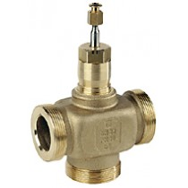 3 Port Plant Valve -  20mm Stroke PN16 Ext Thread 15mm Kvs 2.5