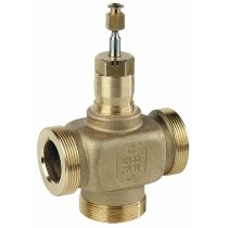 Plant Valve - 3 Port 20mm Stroke PN16 Ext Thread 50mm Kvs 40  + 3 x AC50TF Int thread fitting