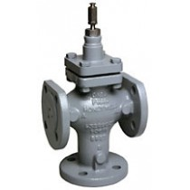 3 Port Plant Valve - 3 Port diverting 38mm Stroke PN25/40 Flanged 100mm Kvs 160