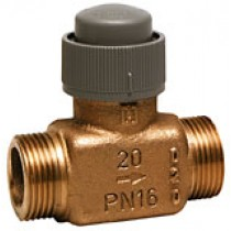 2 Port Zone Valve - 2 Port 6.5mm Stroke PN16 Flat End 15mm Kvs 0.4