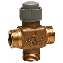 3 Port Zone Valve - 3 Port 2.5mm Stroke PN16 Flat End 15mm Kvs 1.6