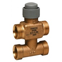 Zone Valve - 4 Port 6.5mm Stroke PN16 Flat End 15mm Kvs 0.25